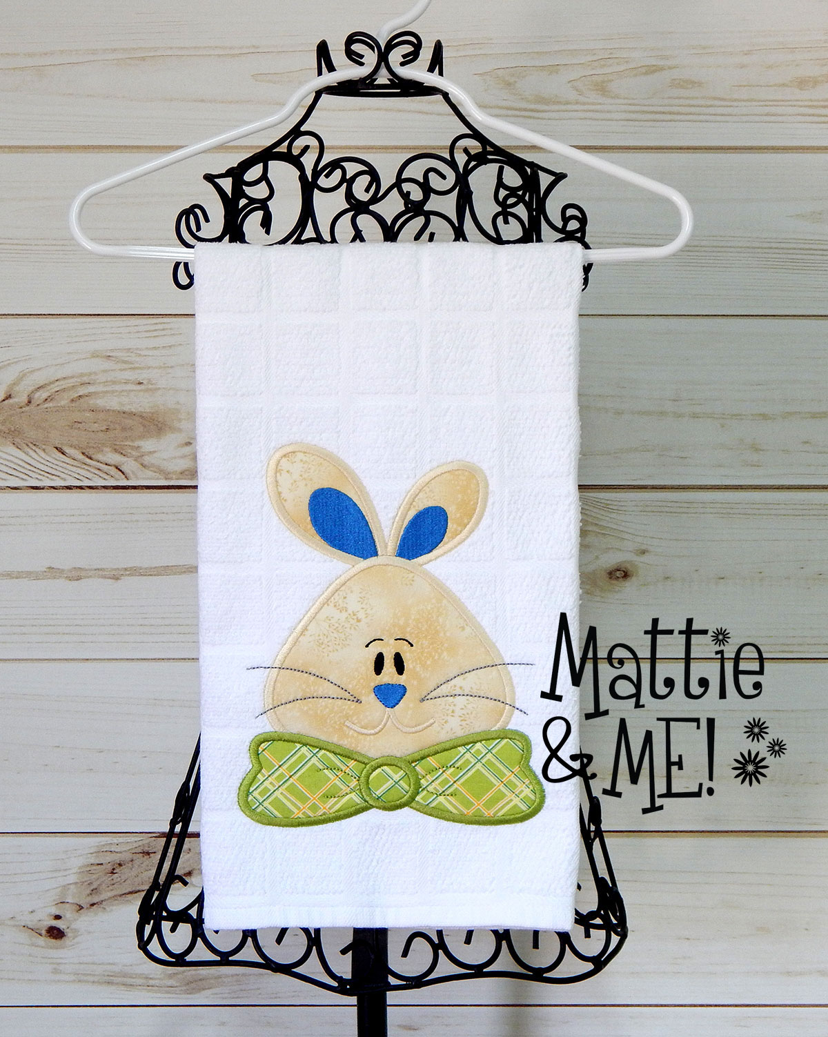 easter bunny finished on white towel