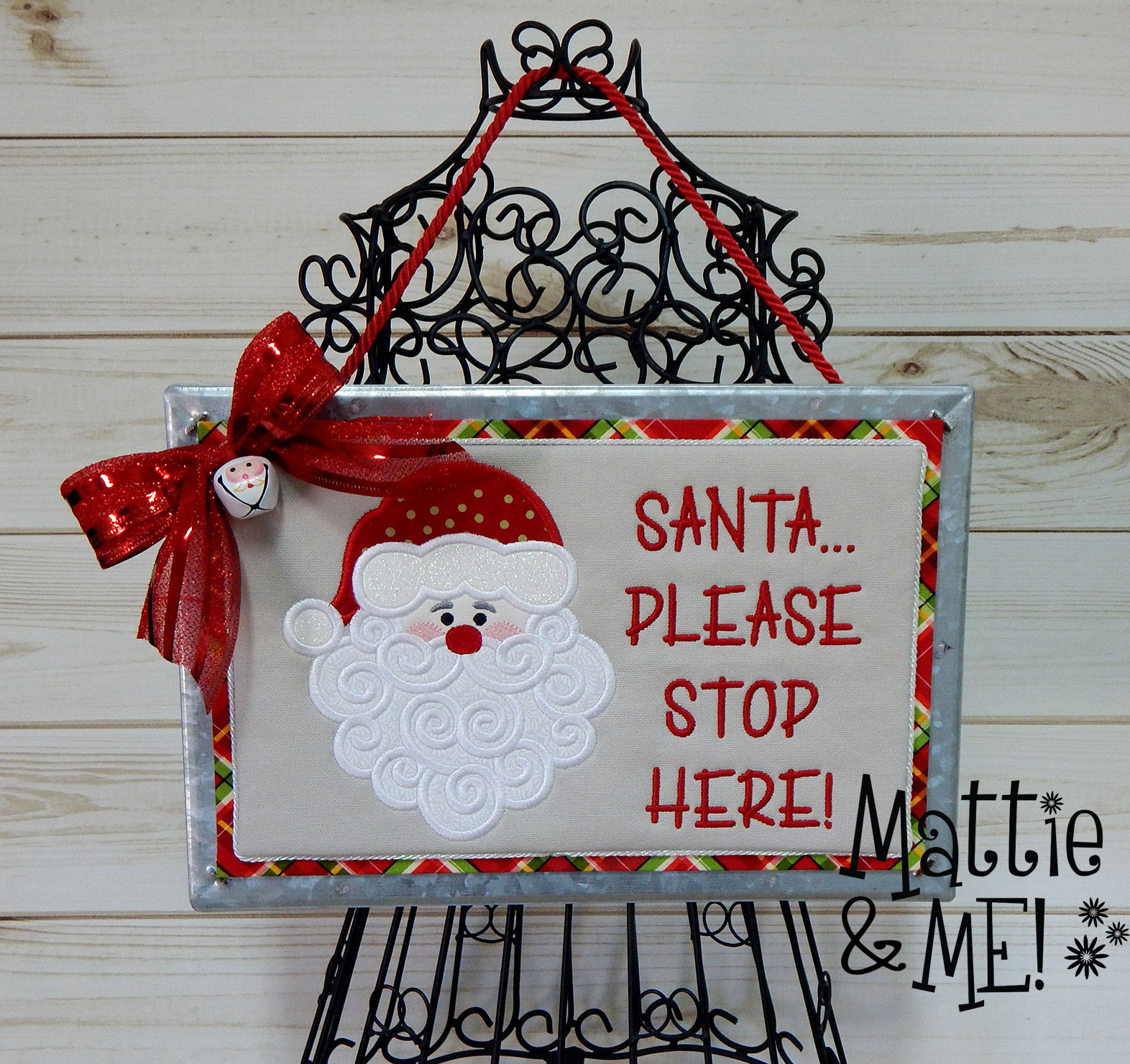 finished santa please stop here sign