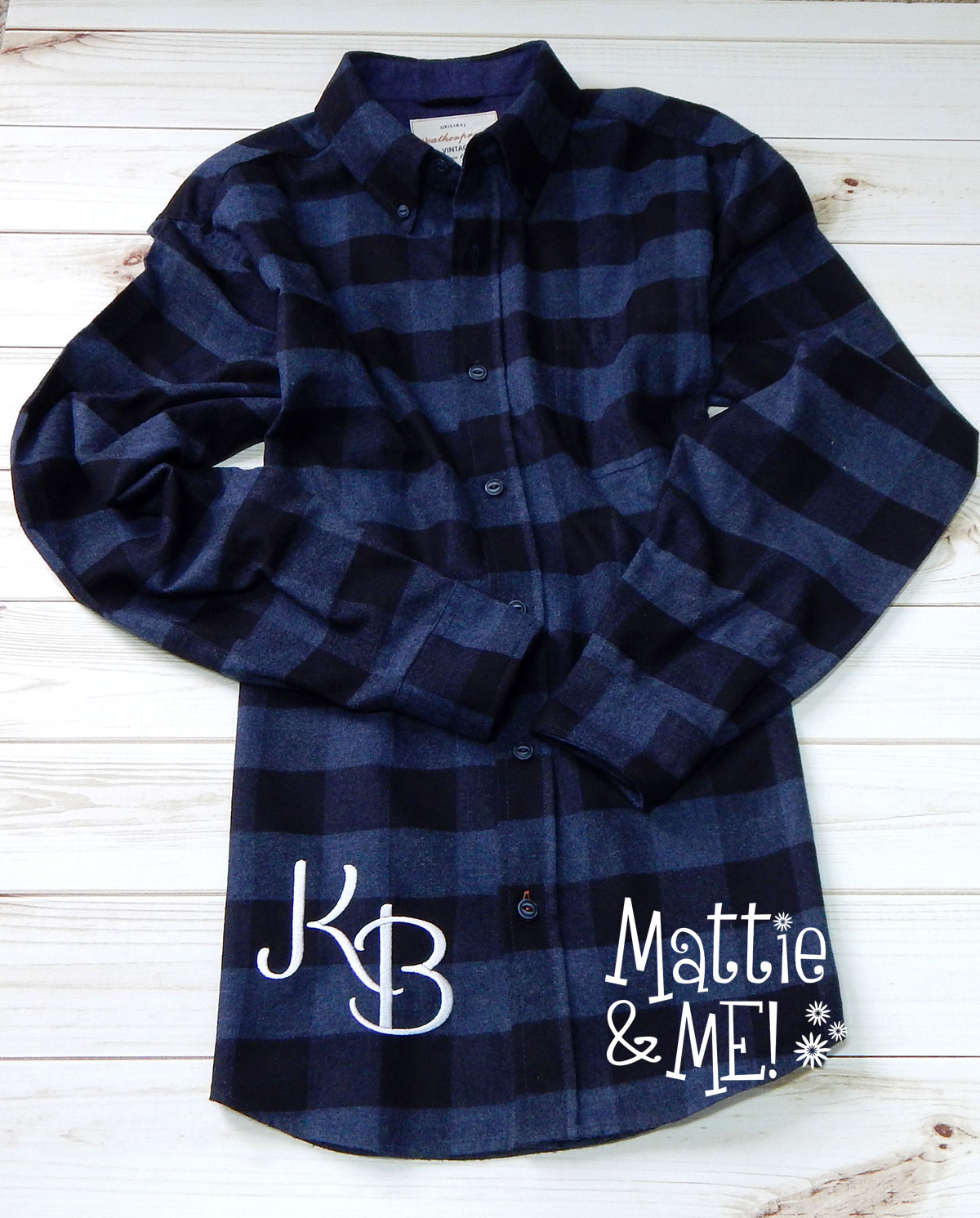 flannel shirt hip monogram finished flannel monogram