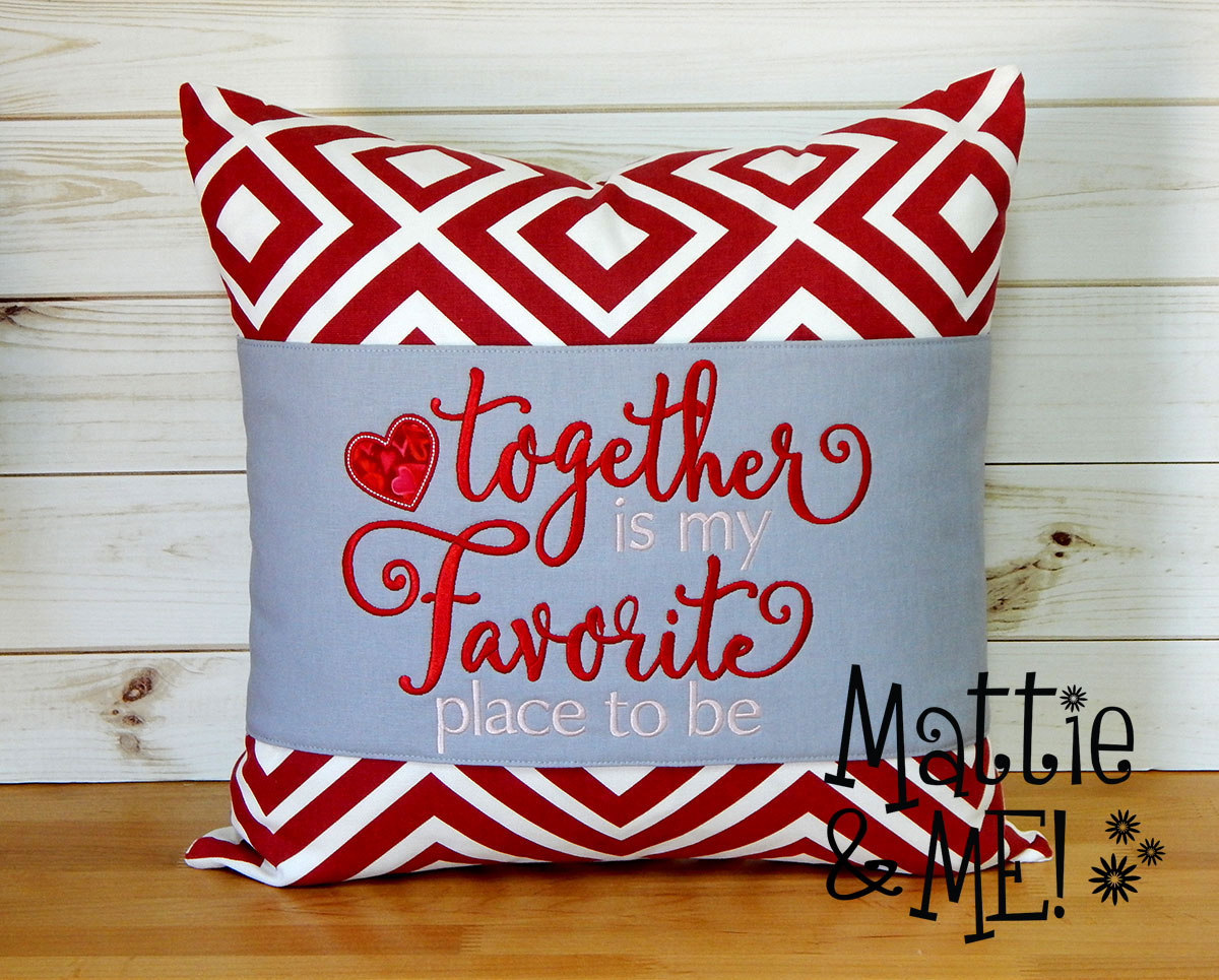 together pillow finished